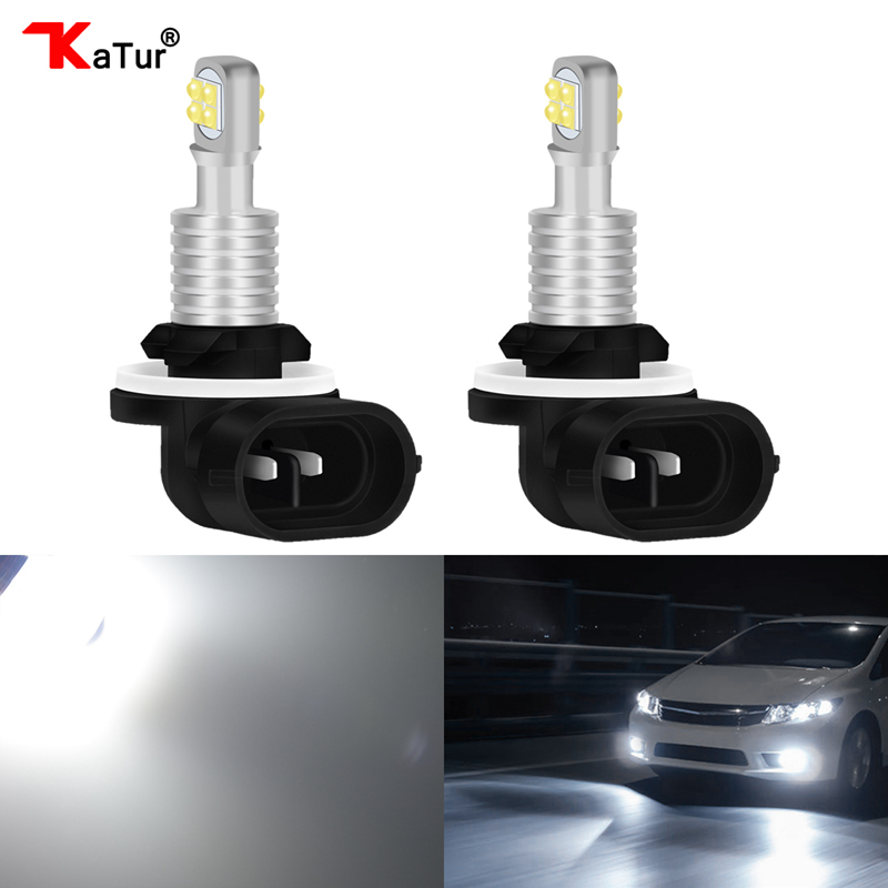 2pcs 1500 Lumens CREELED 40w H27 881 LED Car Fog Light Bulbs Day Running Light White Waterproof IP68 H27W/2 Led For HYUNDAI
