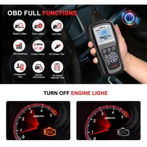 Image 2 - Autel MaxiLink ML619 сканер для диагностики авто автомобиля код ридер ABS SRS подушка безопасности OBD2 Автомобильный сканер Автоссылка AL619 бортовой компьютер