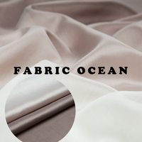 Heavy Organza Fabric Pure Silk White And Gray Gradient Color Sew For Top Shirt Blouse Skirt