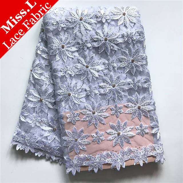 WHITE New Arrivals African Lace Fabric 2017 African French Lace High Quality Embroidery African Tulle Lace Fabric For Party