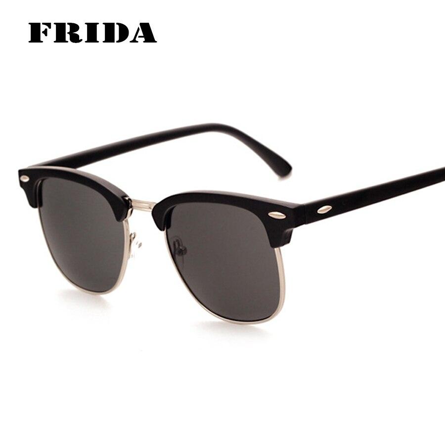 8eb2f14f50ffd FRIDA CLASSIC Half Metal Sunglasses Men Women Brand Designer Glasses  Coating Mirror Sun Glasses Fashion Oculos De Sol UV400