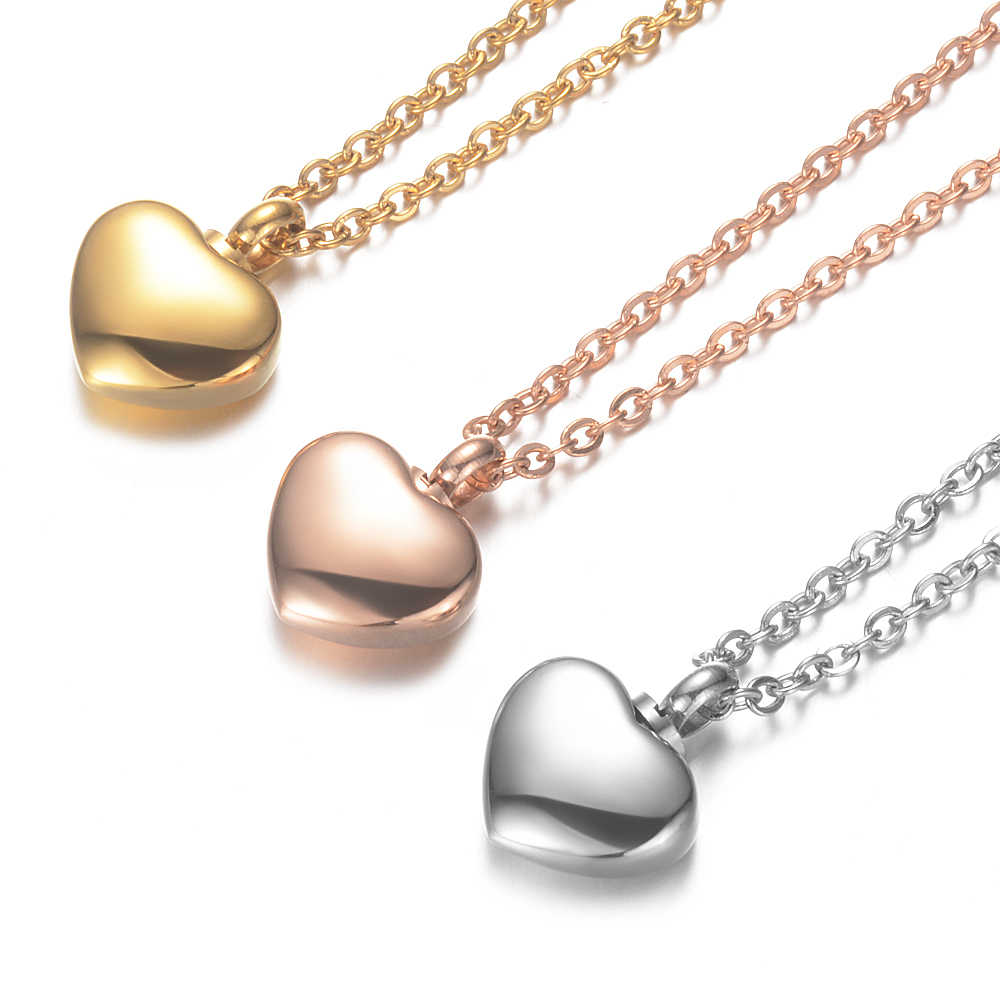 5pcs/lot Heart Shaped Memorial Urns Necklace Human/ Pet Ash Casket Cremation Pendant Stainless Steel Jewelry Can Open