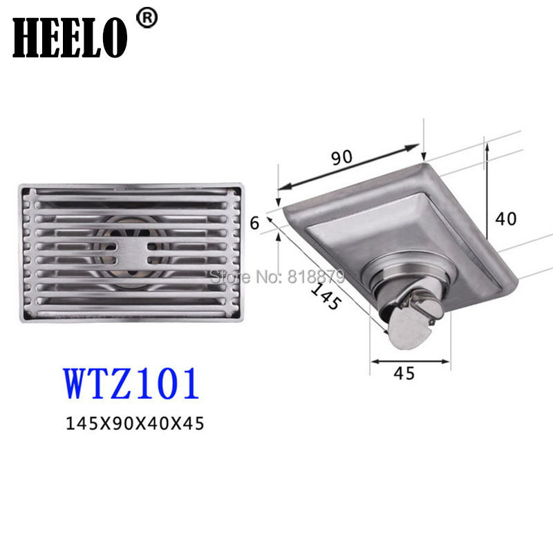 Large Bathroom stainless steel self-sealing water trap anti-odor deodorization type floor drain stainless steel hand palm odor remover lasts forever
