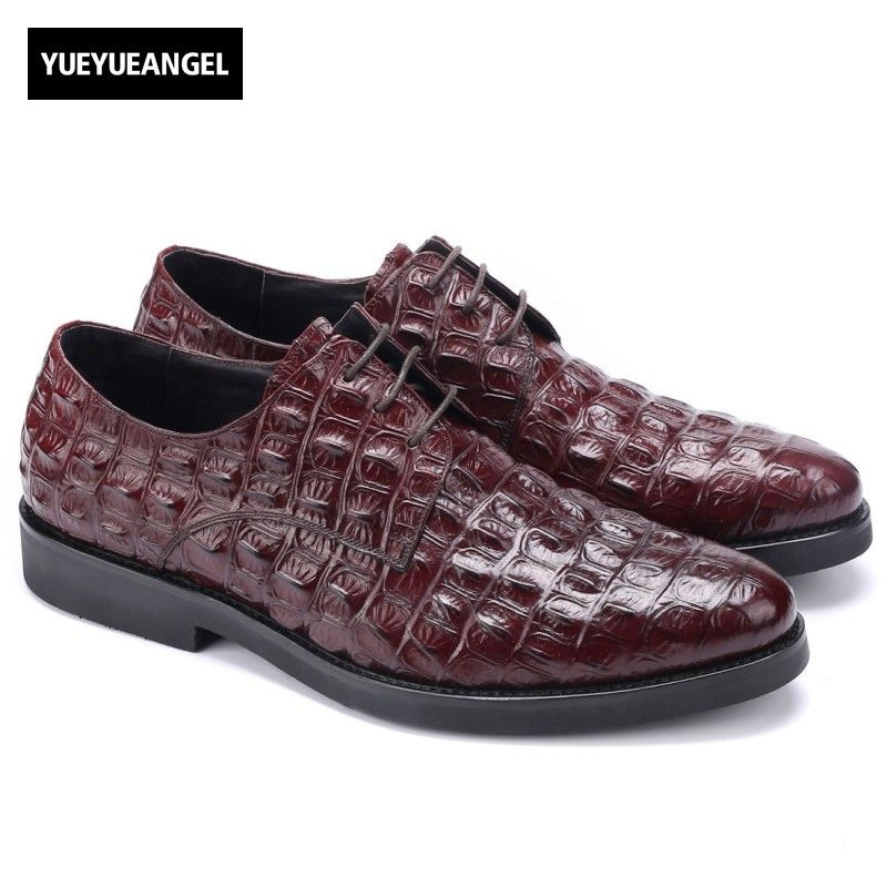 Hot Sale High Quality Genuine Leather Pointed Toe Lace Up Mens Autumn Shoes Formal Footwear Male New Heren Schoenen Multi Color купить