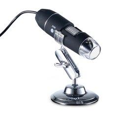 Mega pikseli 500X1000X1600X8 LED cyfrowy mikroskop USB mikroskop lupa elektroniczny Stereo endoskop USB kamery w Mikroskopy od Narzędzia na