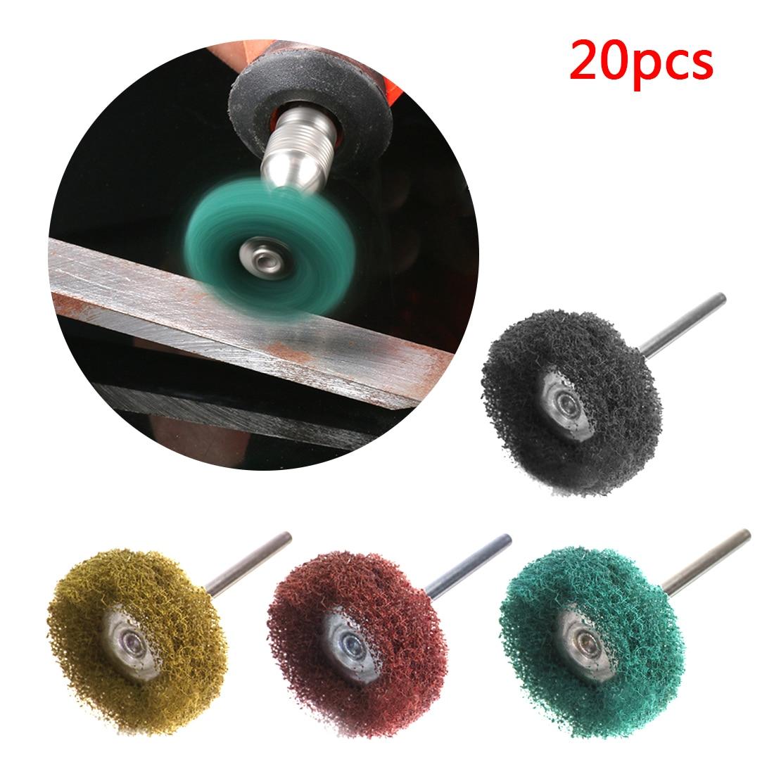 Mini Brush Scouring Pad Abrasive Wheel Nylon Fiber Grinding Sanding Head Buffing Polishing Wheel For Dremel