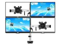 Desk mount Computer monitor bracket four screen rotary lifting base desktop multi screen stitching increase shelf 4 screen