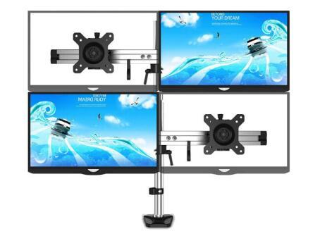 Support de moniteur d'ordinateur de montage de bureau base de levage rotative à quatre écrans couture multi-écran de bureau étagère d'augmentation 4 écrans