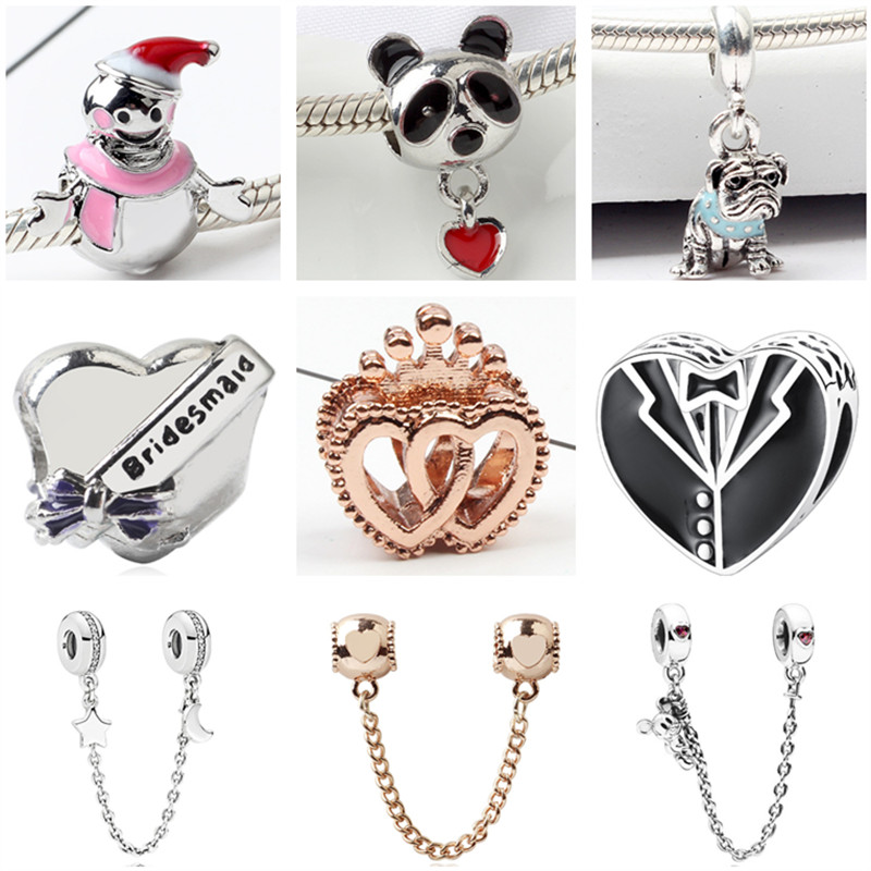 Jewelry & Accessories Search For Flights High Quality Snowman Umbrella Love Heart Crown Map Mickey Charm Beads Fit Pandora Bracelets & Bangles For Women Diy Jewelry Gift Beads & Jewelry Making