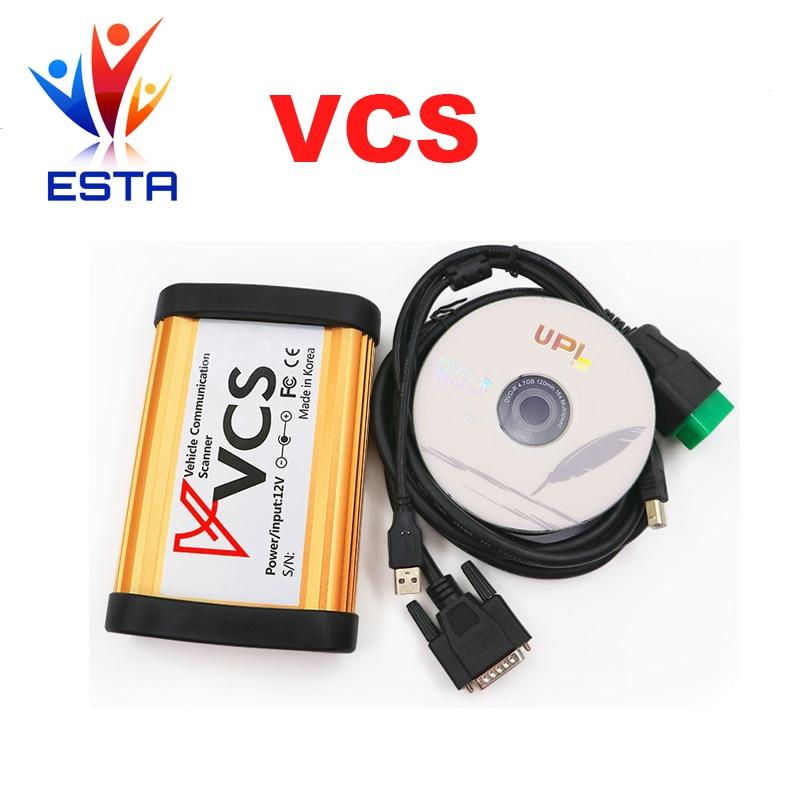 imágenes para Calidad A + auto de Comunicación Del Vehículo VCS Interfaz de Escáner Mejor que TCS pro Englsih/Ruso/Español/Francés envío gratis