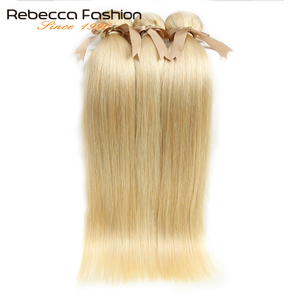Image 4 - רבקה ברזילאי ישר שיער 613 דבש בלונד חבילות 1/3/4 חבילות רמי שיער אריגת שיער טבעי חבילות 10 26 אינץ