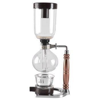 Eworld Japanese Style Siphon coffee maker Tea Siphon pot vacuum coffeemaker glass type coffee machine filter 3cups 1