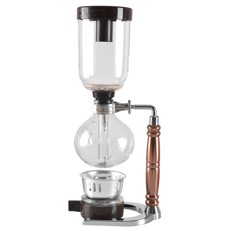 Eworld Japanese Style Siphon coffee maker Tea Siphon pot vacuum coffeemaker glass type coffee machine filter 3cups