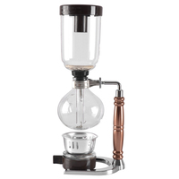 Eworld Japanese Style Siphon coffee maker Tea Siphon pot vacuum coffeemaker glass type coffee machine filter 3cups