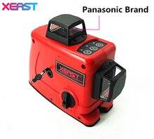 XEAST 12 Линии 3D Лазерный Уровень Самовыравнивающийся 360 Горизонтальный И Вертикальный Крест Красный Лазерный Луч, Panasonic бренд лазерная головка