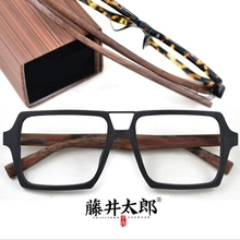 TARO FUJII Spectacle Frame Eyeglasses Men Women Vintage Square Acetate Computer Optical  Glasses Frame Male Female Clear Lens цена