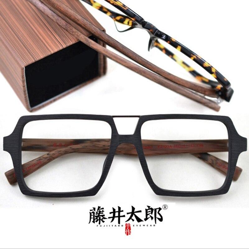 Brillenrahmen KöStlich Taro Fujii Spektakel Rahmen Brillen Männer Frauen Vintage Platz Acetat Computer Optische Gläser Rahmen Männlich-weibliche Klare Linse