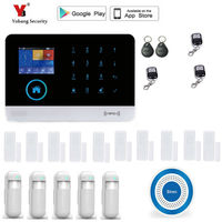 Yobang 보안 무선 sms 홈 와이파이 gsm 경보 시스템 하우스 지능형 자동 도난 도어 보안 경보 시스템