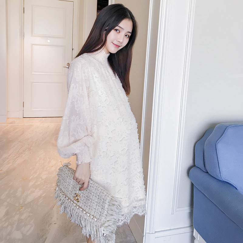 2018 spring women elegant lace oversize loose fit maternity long sleeve dresses for pregnant women fancy pregnancy clothing 2018new spring maternity dress loose