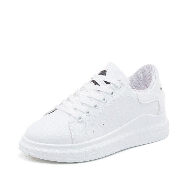 Women Sneakers 2018 Fashion Breathble Vulcanized Shoes Women Pu leather Platform Shoes Women Lace up Casual Shoes