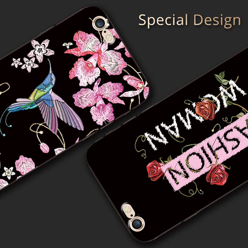 New 3D Relief Classic Dog Case Capa For Apple iPhone 6 6S Soft Silicone Mobile Phone Cases Fundas For iPhone6 6 S Back Cover