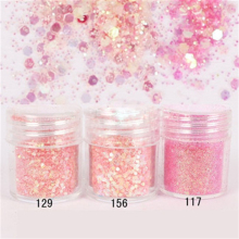 10ml 1 Box Light Pink Color Glitter Powder Ultra-thin Shining Nail Manicure DIY & Body Art Chrome Pigment Sequins