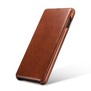 Image 2 - Mới Mỏng Da Bò Chính Hãng Da điện dành cho Samsung Galaxy Samsung Galaxy S10 Kinh Doanh Da Thật Thông Minh Điện Thoại dành cho Samsung S10 plus