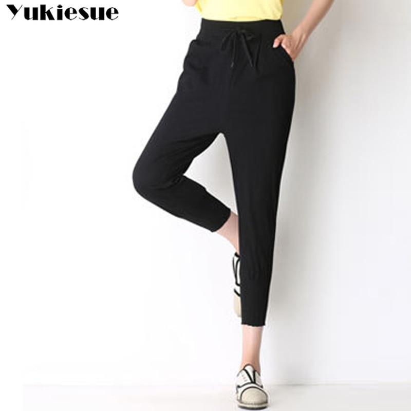 Summer Autumn Fahion Lady Casual   Pants     capris   Women trousers Work Wear Career Black Harem   Pants   Female Formal Suit   Pants   S-3XL