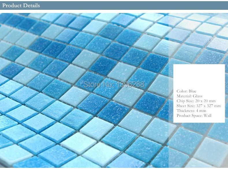 Cheap Free Shipping Swimming Pool Mosaic Tiles Blue Color Bathroom Garden Balcony Exterior