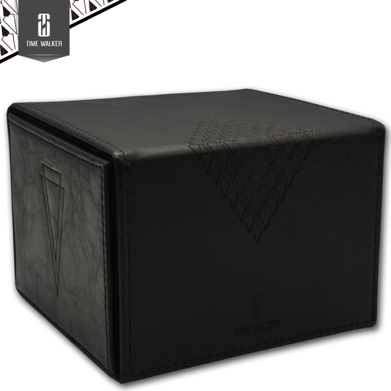 Black leather handmade Board game cards box the magical collection Yu-Gi-Oh board games accessories case container