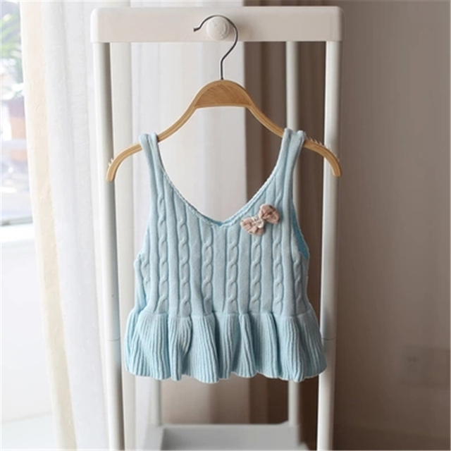Baby Girl Children Knitted Sweater Dress Pattern Vetement Fille Pullover Knitted Sweater Cardigan For Girls Winter 60J096