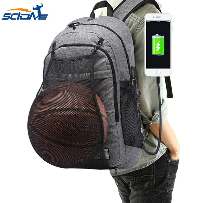 Scione sacs de sport pour hommes sacs à dos de basket-Ball sacs d'école pour adolescents garçons Pack de ballon de Football pochette d'ordinateur Football Net sac de sport