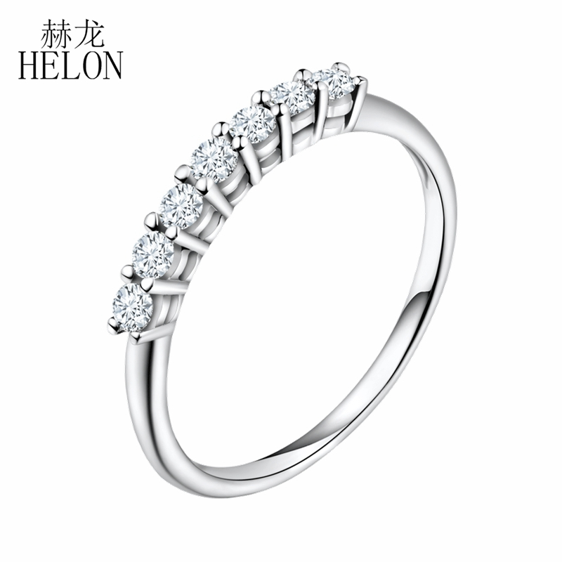 HELON Moissanites Ring VVS/ FG Lab Grown Moissanites Diamond Sterling Silver 925 Engagement Ring For Women Wedding Fine JewelryHELON Moissanites Ring VVS/ FG Lab Grown Moissanites Diamond Sterling Silver 925 Engagement Ring For Women Wedding Fine Jewelry