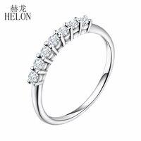 HELON Moissanites кольцо VVS/FG выращенные лабораторно кольцо с алмазом Moissanites стерлингового серебра 925 Обручение кольцо для Для женщин свадебные ювел