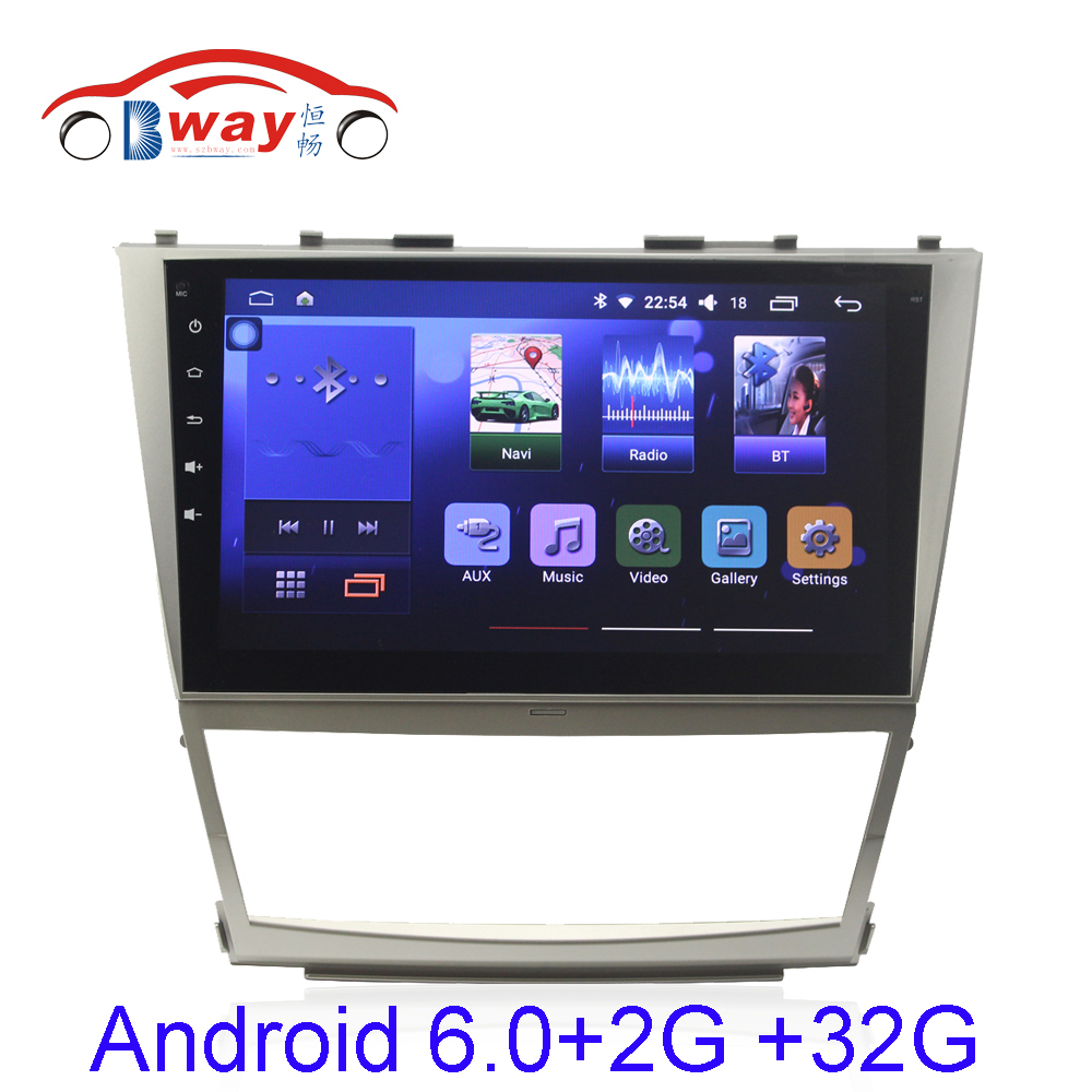 Capacitive 10.2 Quadcore Android 6.0.1 Car radio for Toyota Camry 2006-2011 car dvd video player with 2G RAM,32GB iNAND