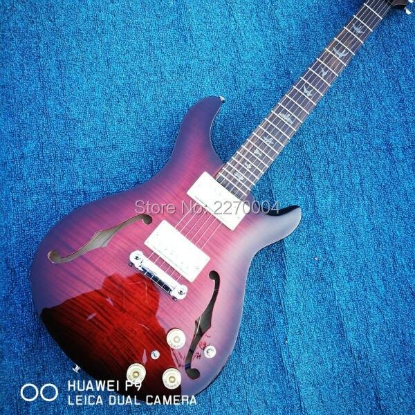Custom Shop tiger Feng top hollow body Jazz electric guitar, free shipping, real guitar photo