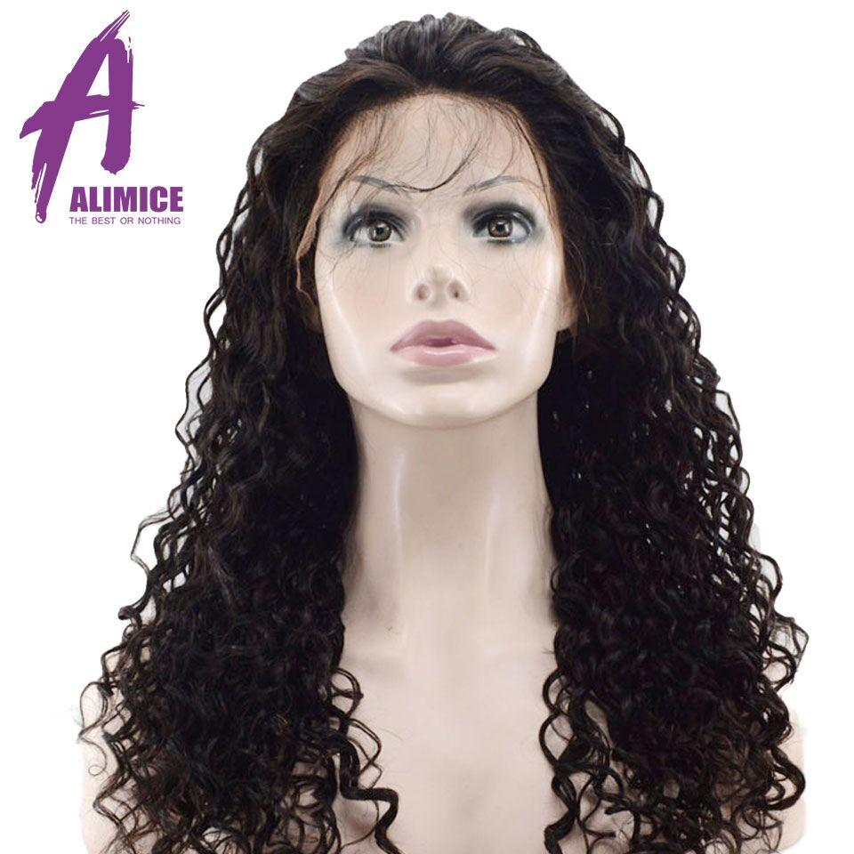 Alimice Hair Water Wave 360 Lace Frontal Wigs Brazilian Remy Full End Human Hair Wigs With Baby Hair Pre-Plucked With Baby Hair (6)
