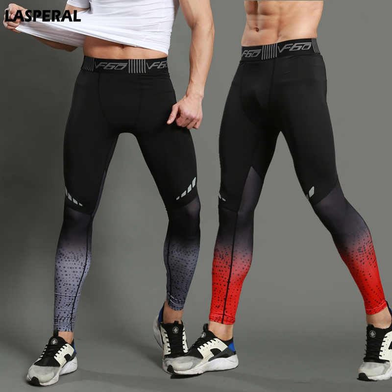 LASPERAL Fitness Men Running Tights Print Bodybuilding Crossfit Sports Leggings Athleisure Sportswear Plus Sizes Elastic Pants цена 2017