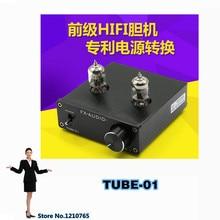 FX-AUDIO HIFI Audio Preamplifier preamplificador TUBE-01 DC12V 1A Bile Preamp Tube Amplifier Buffer 6J1 valve tube