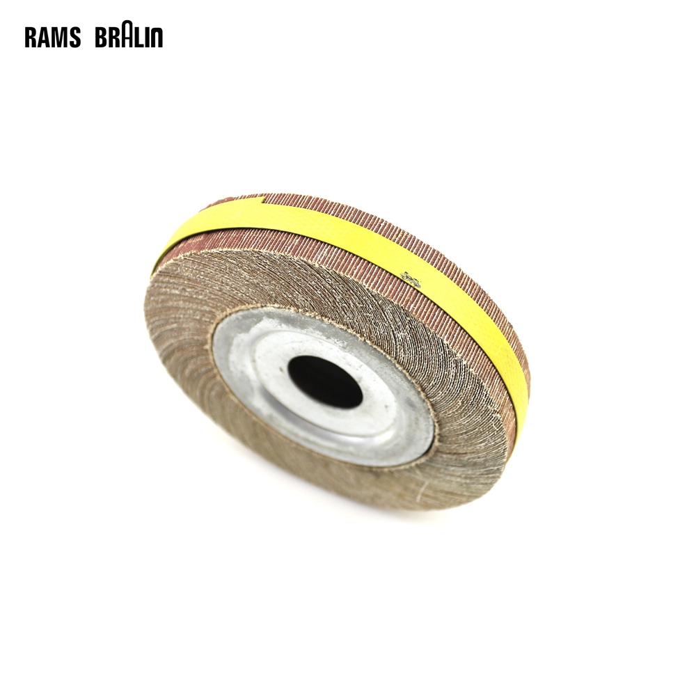 цена на 6*1*1 Flange Abrasive Flap Wheel Sanding Cloth Mop Wheel Metal Wood Polishing Grinding