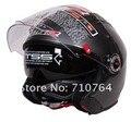 Envío gratis Nueva LS2 Of578 bicolor Shield (gris Titanio) de La Motocicleta Casco Retro casco Abierto