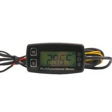 טכומטר שעה מד דיגיטלי LCD מדחום טמפרטורת עבור גז UTV טרקטורונים סירת באגי טרקטור JET סקי Paramotor באגי