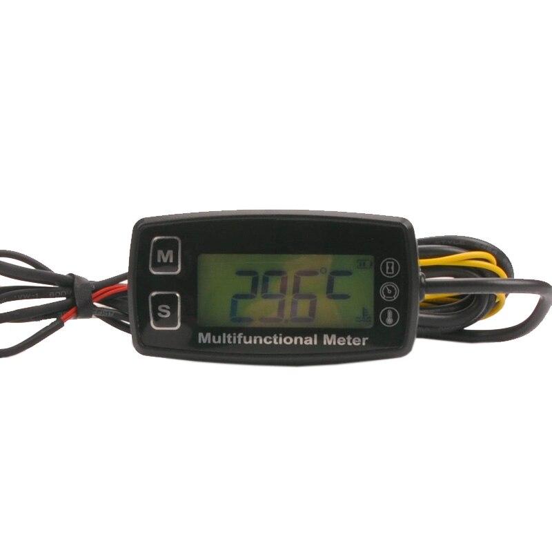 Numérique LCD RL-HM035T compte-tours compteur horaire thermomètre température pour gaz UTV ATV hors-bord buggy tracteur JET SKI paramoteur