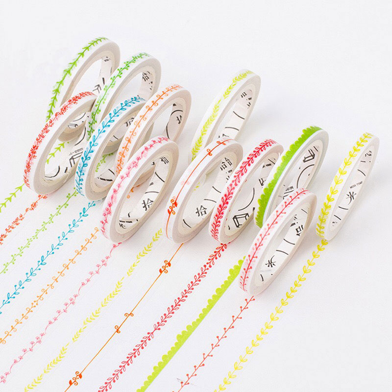 Voordeel 42% Korting 5mm*8m Lovely plant washi tape DIY decoration scrapbooking planner masking