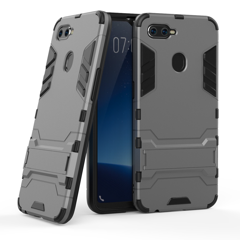 360 Full Shockproof Phone Case For OPPO F9 Realme 2 Pro Armor Protective Case For OPPO F3 F5 F7 A7 Realme U1 Holder Cover Shell