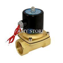 Электромагнитный Клапан BSP 1-1/2 «12 в ПОСТОЯННОГО ТОКА В/24 В AC 110 В/220 В Прямой вода Воздух Нефть Газ Нормально Закрытый Электрический 2 Вт