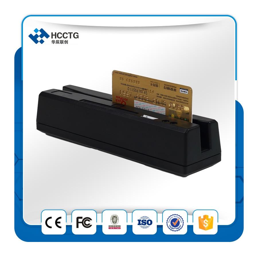 1/2/3 pistes USB Magnétique Bande RFID lecteur de cartes HCC110