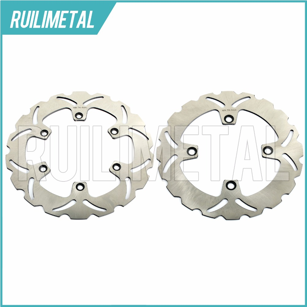 Full Set Front Rear Brake Discs Rotors for HONDA CB 500 97 98 99 00 01 02 03 XRV AFRICA TWIN 650 88 89 1988 1989 94 95 96 97 98 99 00 01 02 03 04 05 06 new 300mm front 280mm rear brake discs disks rotor fit for kawasaki gtr 1000 zg1000
