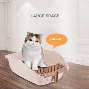 Image 5 - صندوق نفايات القط حجم كبير ، سهلة التنظيف مرحاض القطط المغلقة تماما ، والحد من مبعثر القمامة تصل إلى 95% ، ث/مجرفة ودواسة استنزاف الرمال