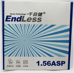 Корея Технологии анти-усталости 1.56 против ультрафиолетового излучения единое видение линзы для близорукости/дальнозоркости 1.56 Асферические линзы
